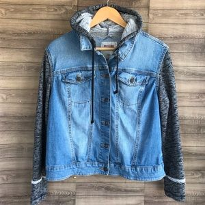 Mossimo | Denim and Knit Jacket with Hood XXL